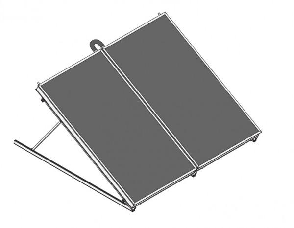 2x BASIC line Solar-Warmwasser-Paket BW 410 Freiausftellung hochkant