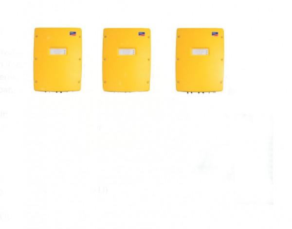 3x SMA Sunny Island SI 3.0M-11 und BMZ Leistung 10,4 kWh nutzbar (bei 80 %)