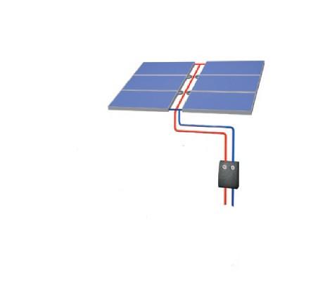 KP 1440 AR Aufdach - 6 Kollektoren inkl Solarstation und Regler - ohne Speicher