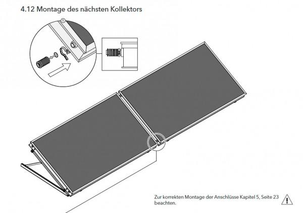 4x EURO L20 MQ AR Flachkollektor Freiaufstellung waagrecht