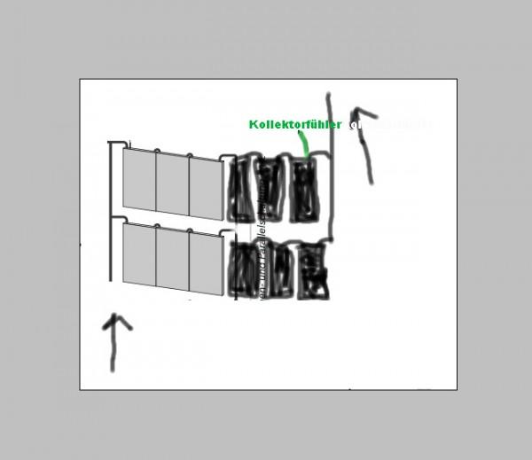 12 Wagner Kollektor L20 AR ohne Gestell und Anschlussschläuche