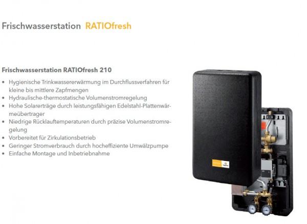 Frischwasserstation RATIOfresh 210 (nickelverlötet) und Ratio 700-2G Pufferspeicher
