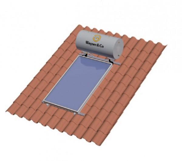 SECUterm 300 Liter Aufdach oder Frei mit 2 x EURO TS HTF Flachlollektor