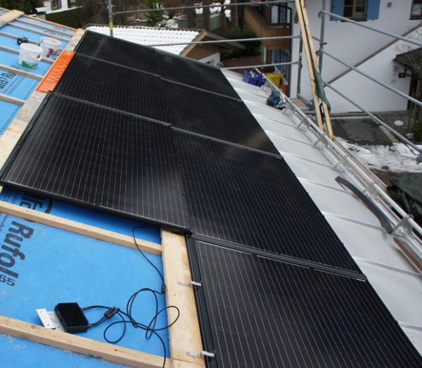 8,125 kW CSW Photovoltaikanlage mit Solrif Indachanlage und Solaredge