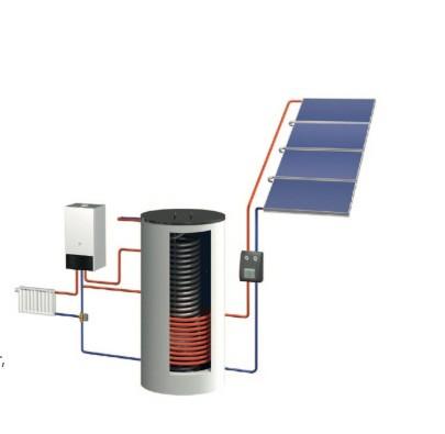 Combi Line Solarheiz-Paket SH 960 AR Freiaufstellung hochkant plus Zubehör