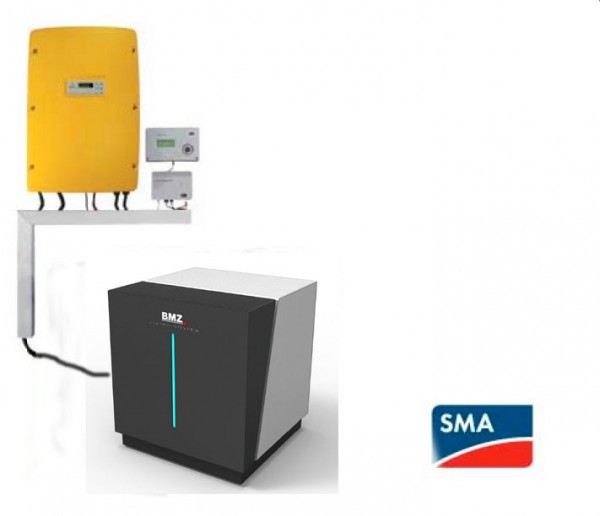 SMA Sunny Island SI 3.0M-11 und Batterie BMZ 6,5 kWh, nutzbar 5,2 kWh