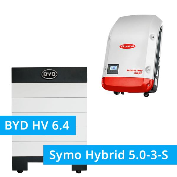 3,84 kW REC Photovoltaik Komplettanlage, Fronius Symo Hybrid + BYD HV 6.4