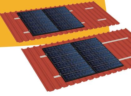 29,6 kW Longi PV-Komplettanlage mit Kostal WR und Gestell für Trapezdach