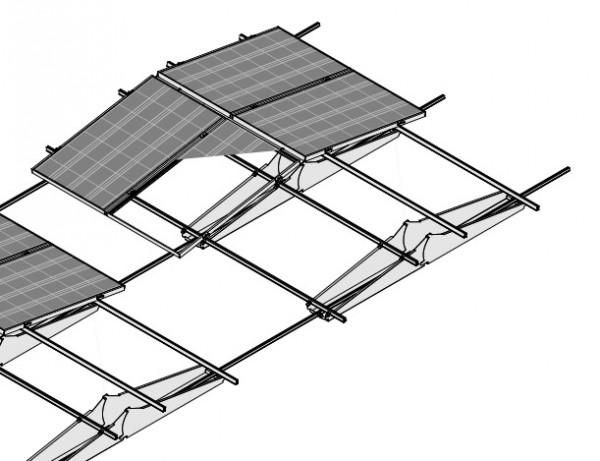 (Ost-West)-Gestell Tric F Box für 66 Module (ohne Module und Modulklemmen)